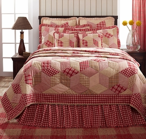 "Breckenridge Quilted Euro Sham Ruffled 26"" x 26"" by VHC Brands"