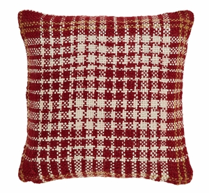 "Breckenridge Woven Acrylic Pillow 16"" x 16"" by VHC Brands"