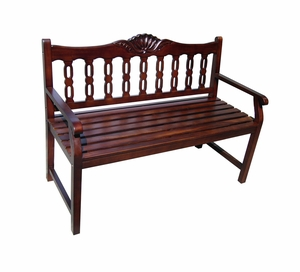 Bremen Bench, Bewitchingly Carved Winsome Home Decor by D-Art