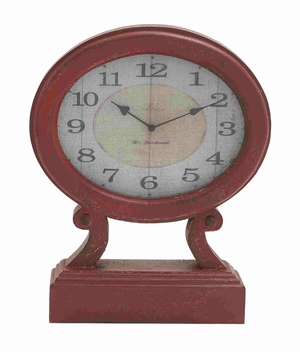 Bremen Table Clock Creatively Fashioned Elegant Creation Brand Benzara
