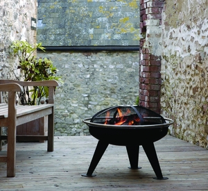 Brescia Fire Pit, Solid Base And Trendy Design Unit by Well Travel Living