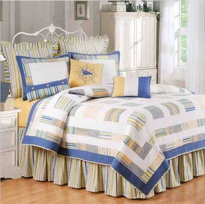 Bridgewater Coastal Nautical Quilt Luxury King  Bedding Ensembles Brand C&F
