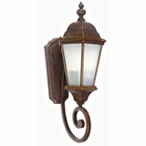 Brielle Collection Attractive Styled 2 Lights Exterior Light Wall Mount in Brown by Yosemite Home Decor