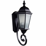 Brielle Collection Classy Styled 2 Lights Exterior Light Wall Mount in Black by Yosemite Home Decor