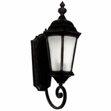Brielle Collection Creatively Styled 1 Light Exterior Light Wall Mount in Black by Yosemite Home Decor