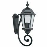 Brielle Collection Customary Styled Black 2 Lights Exterior Light Wall Mount by Yosemite Home Decor
