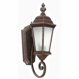 Brielle Collection Smart Styled 1 Light Exterior Light Wall Mount in Brown by Yosemite Home Decor