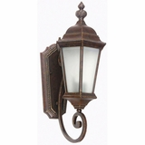 Brielle Collection Sophisticated Brown 2 Lights Exterior Light Wall Mount by Yosemite Home Decor