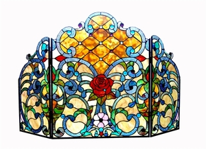 Bright and Colorful Fireplace Screen by Chloe Lighting