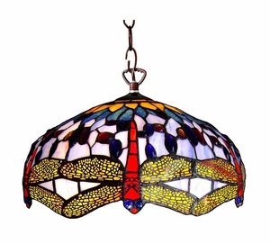 Bright and Lovely Dragonfly Pendant Lamp by Chloe Lighting