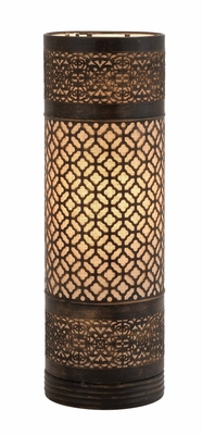 Bright Attractive Styled Metal Cylinder Table Lamp by Woodland Import