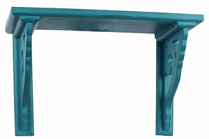 Bright Blue Polished Exclusive Wooden Shelf