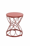Bright Exclusive Metal Red Plant Stand by Woodland Import