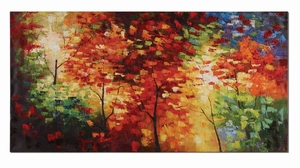 Bright Foliage Canvas Frameless Hand Painted Wall Decor Brand Uttermost