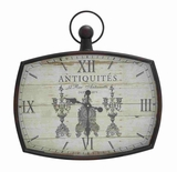 Brighton Antique Styled Metal Wall Clock Brand Benzara