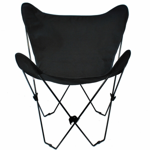 Brilliant Ebony Replacement Cover for Butterfly Chair by Alogma