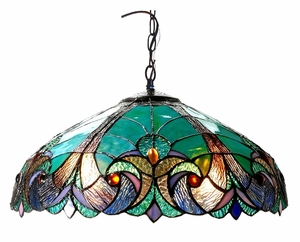 Brilliant Green Victorian Ceiling Pendant by Chloe Lighting