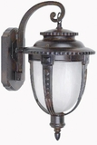 Brina Collection Beautiful Stylized 1 Light Exterior Light Wall Mount in Brown by Yosemite Home Decor