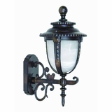 Brina Collection Enthralling Styled 1 Light Exterior Light Wall Mount in Brown by Yosemite Home Decor