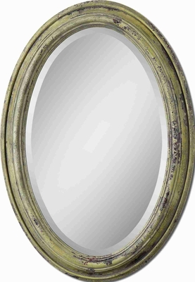 Brizona Vanity Mirror with Aged Rust Yellow Finish Brand Uttermost