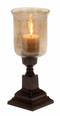 Broad Base Hurricane Candle Lighting Decor Fashion Forever Brand Woodland
