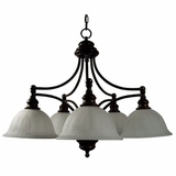 Broadleaf Collection Mesmerizing Dark Brown 5 Lights Chandelier with Shade by Yosemite Home Decor