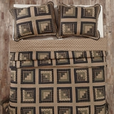 Brockton Cabin Black Twin Quilt 90x70 - 25275 by VHC Brands