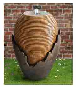 Broken Vase Overflow Fountain With Lighting A Superb Modern Art Piece Brand Domani
