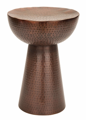 Bronze Stool With Two Geometric Figures- Half Sphere And Cone Brand Woodland