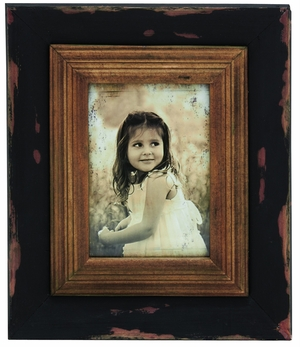 Brown Finish Fascinating Wood Photo Frame by Woodland Import