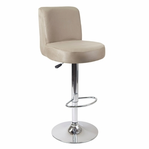 Brown Jayden Air Lift Stool with Chrome Base by Winsome Woods