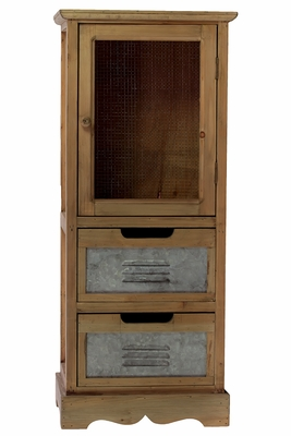 Brown Wooden Sophisticated and Unique Cabinet by Urban Trends Collection