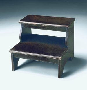 "Brushed Sable Step Stool 18""W by Butler Specialty"
