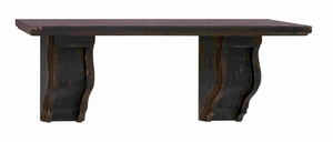 Brussels Contemporary Dark Wood Wall Shelf Brand Benzara