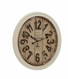 Buckingham Contemporary Styled Metal Wall Clock by Woodland Import