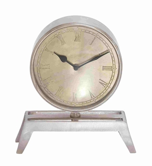 Budapest Beguiling Handy Table Clock Creation Brand Benzara