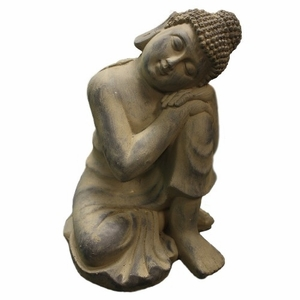 Buddha Made From Fiber Stone Multipurpose Statue Religiously Themed Brand Domani