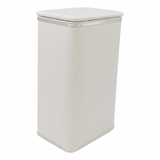 Budget Series Apartment Hamper in White/Silver by Redmon