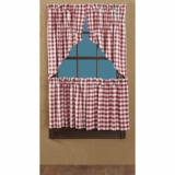 Buffalo Red Check Tier Lined Set of 2 L24xW36