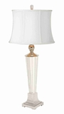 Buffet Table Lamps Contemporary with White Shade - Set of 2 Brand Woodland