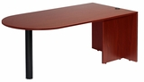 Bullet Desk, Mahogany 71x35 by Boss Chair