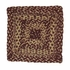 Burgundy And Tan Oval Braided Stair Treads Brand VHC