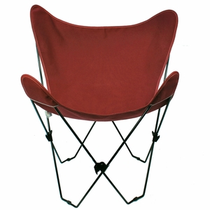 Burgundy Replacement Cover for Butterfly Chair by Alogma