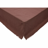 Burlap Chocolate Fringed Queen Bed Skirt 60x80x16 - 27191 by VHC Brands
