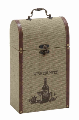 Burlap Double Wine Holder Durable and Weather Resistant Brand Woodland