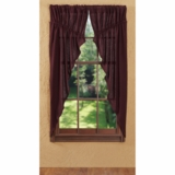Burlap Merlot Prairie Curtain Set of 2 63x36x18