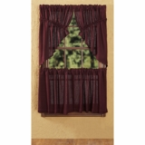 Burlap Merlot Tier Set of 2 L24xW36