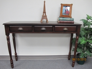 Burrel Two Drawer Hall Table, Exceptionally Compelling Creation by D-Art