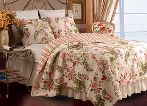 Butterflies Oversize Cotton Quilt Queen 3 Pcs Set Brand Greenland Home fashions
