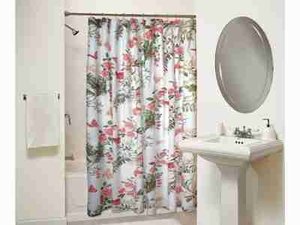 Butterflies Shower Curtain, Cotton Polyester Shower Curtain Brand Greenland Home fashions